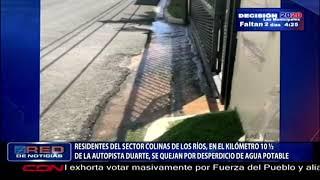 Residentes del sector Colinas de Los Ríos se quejan por desperdicio de agua potable