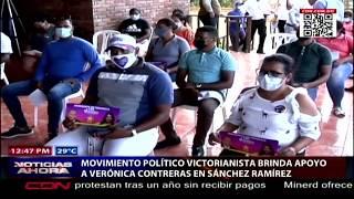 Movimiento político Victorianista brinda apoyo a Verónica Contreras en Sánchez Ramírez