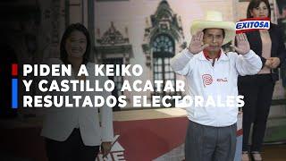 ????????Augusto Cáceres pidió a Keiko y Castillo acatar sin ninguna resistencia resultados electorales