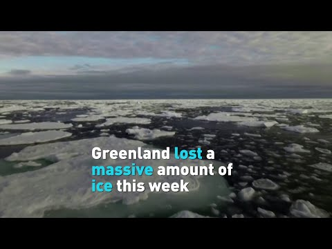 Tons of ice melted in Greenland in a single week