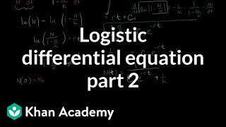 Solving the logistic differential equation part 2