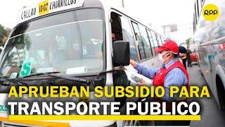 """Josué Gutiérrez: """"El subsidio simplemente hará que servicio se mantenga operativo"""""""