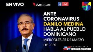 Danilo Medina habla al pueblo Dominicano.
