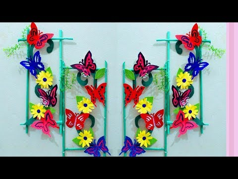 Paper craft ideas for room decoration - Wall decoration with paper craft - Butterfly wall decoration