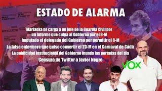 AVANCE de los TEMAS de los que HABLAREMOS en ESTADO DE ALARMA a las 21.15