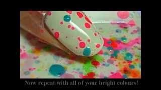 Fun and Easy Splatter Party Nail Tutorial