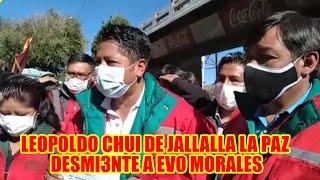 VOCERO DE JALLALLA LA PAZ GOBERNACIÓN DE LA PAZ Y ALCALDÍA DEL ALTO DARAN TRABAJO A LOS JÓVENES..