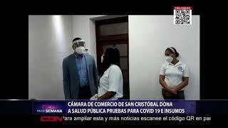 Cámara de Comercio de San Cristóbal dona a Salud Pública pruebas para Covid-19 e insumos