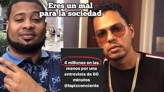 Lápiz Conciente le RECHAZÓ 4 MILLONES de pesos a Santiago Matías Alofoke Music por una entrevista