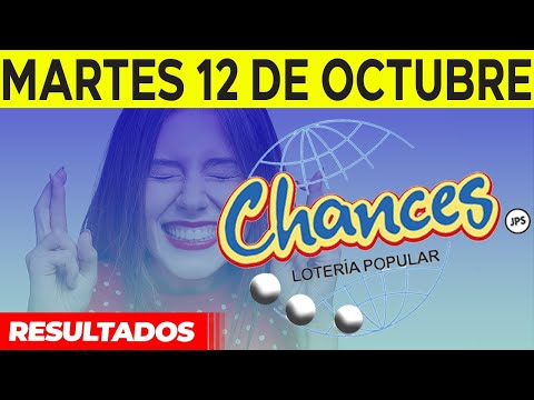 Sorteo Lotería popular Chances del Martes 12 de octubre del 2021
