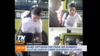 Mujer capturada por fingir ser bombero
