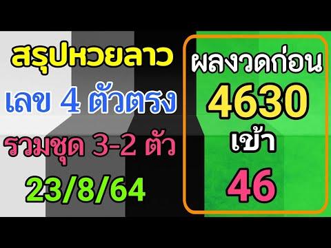 สรุปวิเคราะห์เลขหวยลาว-23/8/25