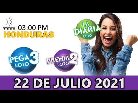 Sorteo 03 PM Loto Honduras, La Diaria, Pega 3, Premia 2, Jueves 22 de julio 2021  