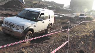 Land Rover Discovery 4 offroad test drive