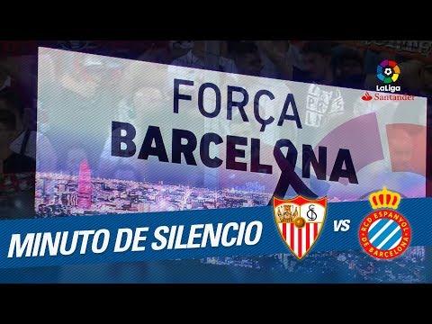 Minuto de silencio en el Sevilla FC vs RCD Espanyol