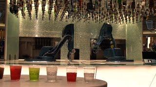 Robot bartenders shake it up on cruise ship
