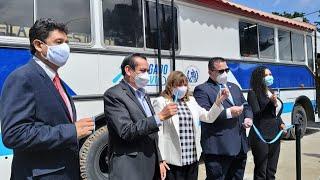 Autoridades del OJ y SP inauguran un juzgado móvil