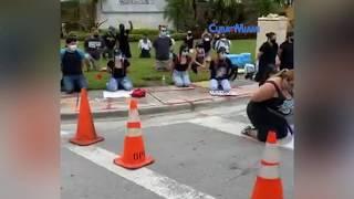 Protestas frente al Trump National Doral Miami