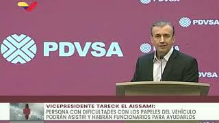 Tareck El Aissami, declaraciones completas por inicio de venta de gasolina en Venezuela, 31/05/2020