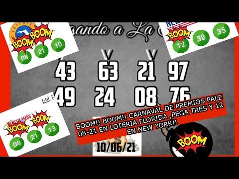BOOM!! BOOM!! PALE 08-21 EN LOTERIA FLORIDA Y EN PEGA3 MAS Y EL 12 EN NEW YORK!!