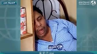 العامل ترك البقالة وفي سابع نومه