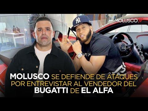 Atacan a Molusco por entrevista que le hizo a vendedor que atendió a El Alfa en la BUGATTI