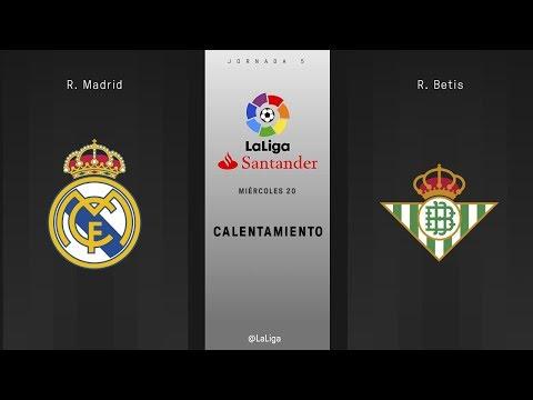 Calentamiento R. Madrid vs R. Betis