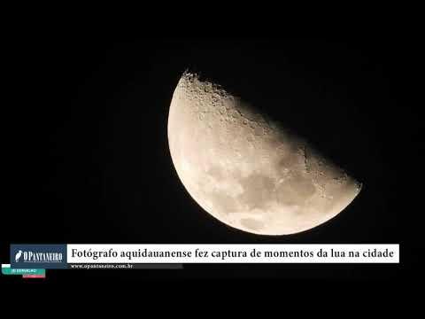Fotógrafo aquidauanense fez captura de momentos da lua na cidade