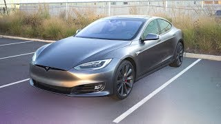 Space Gray Tesla Model S Wrap!