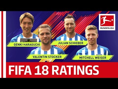 EA SPORTS FIFA 18 - Hertha BSC Berlin Players Rate Each Other: Haraguchi, Weiser & More