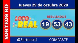 Loteria Real en VIVO  / Jueves 29 de octubre 2020