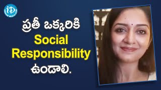 Actress Vimala Raman about Being Socially Responsible | Dil Se with Anjali | iDream Movies - IDREAMMOVIES