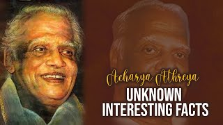 Acharya Athreya Unknown Interesting Facts | #AcharyaAthreya | Producer Prasanna Kumar | TFPC - TFPC