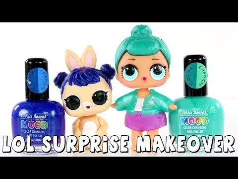 connectYoutube - LOL Surprise Dolls and Pets Makeover | Color Changing Nail Polish DIY | DCTC Amy Jo