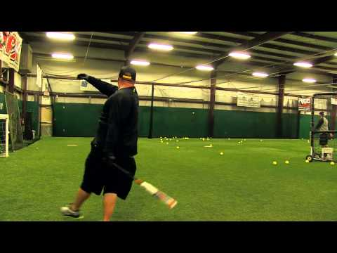 Chris Larsen Swings the DeMarini FU-Dawg Slow Pitch Bat!