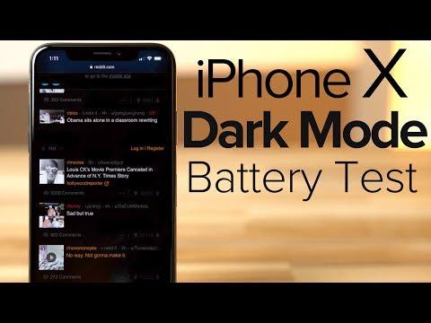 Dark Mode on iPhone X VASTLY improves battery life!