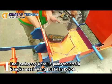Mesin Batako Paving Cetak 6 | Kembar Teknika