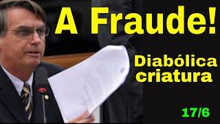 Bolsonaro e a fraude! Cadê a prova Eletrobrás e a milicia do Senado! Quem crê nas mentiras do Demo