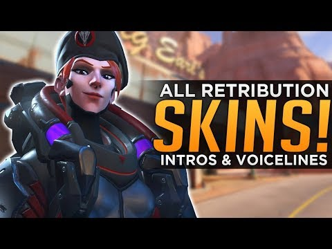 Overwatch: ALL Retribution SKINS, Voice Lines & Highlight Intros!