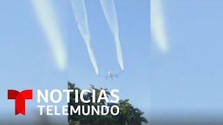 Avión arroja lluvia de combustible sobre varias escuelas en California   Noticias Telemundo