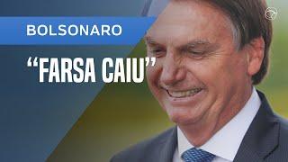 """BOLSONARO SOBRE VÍDEO DE REUNIÃO: """"MAIS UMA FARSA CAIU"""""""