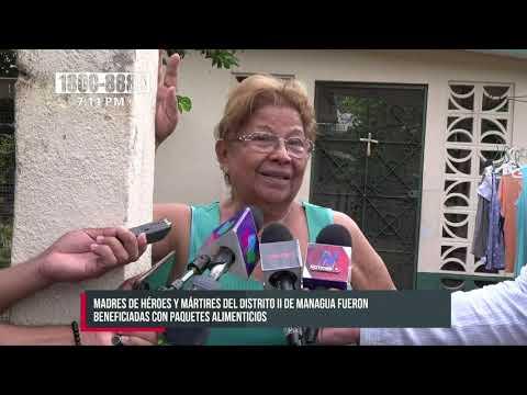 Paquetes alimenticios a madres de héroes y mártires del Distrito II de Managua - Nicaragua