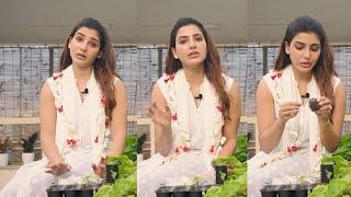 Actress Samantha About Seeding In Home Garden   IG Telugu - IGTELUGU
