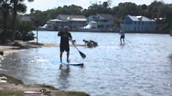 1st time on a SUP Mike owner of Longboard and Paddleboard House.