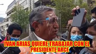 IVAN ARIAS MANDO CARTA AL PRESIDENTE LUIS ARCE PARA REUNIRSE QUIERE TRABAJAR JUNTOS...