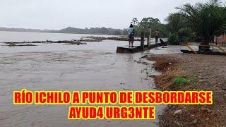 RIO OCHILO ESTÁ A PUNTO DE DESBORDARSE POBLADORES PID3N CONSTRUIR MÁS DEF3NSAS RIBEREÑAS..