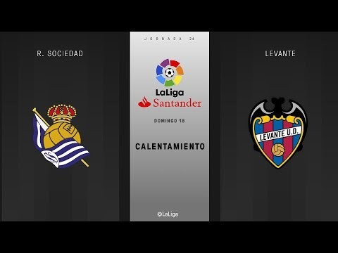 Calentamiento R. Sociedad vs Levante