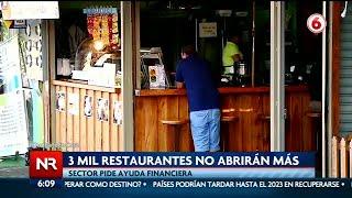 3 mil restaurantes no abrirán más debido a la pandemia