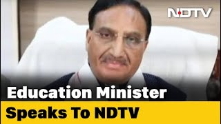 Exclusive: Education Minister On The Roadmap For Reopening Schools - NDTV