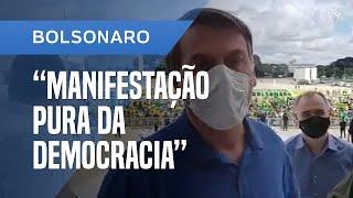 BOLSONARO LEVA MINISTROS A MANIFESTAÇÃO PRÓ-GOVERNO E DIZ QUE É 'PURA DA DEMOCRACIA'
